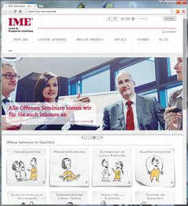 www.ime-seminare.de - programmiert mit WordPress von elpix